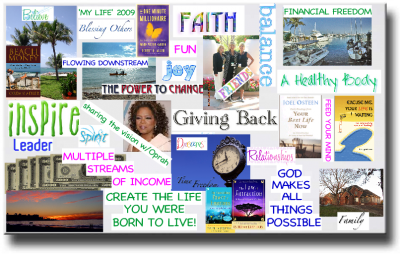 A vision board will help you feel the desired states of being and emotion on an ongoing basis